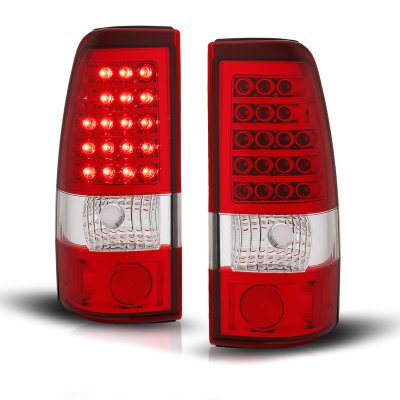 Chevy Silverado 2500HD 2001-2002 LED Tail Lights Red and Clear