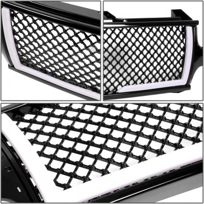 Chevy Silverado 3500 2001-2002 LED Grille Lights Black Mesh