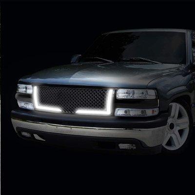 Chevy Silverado 2500 1999-2002 LED Grille Lights Black Mesh