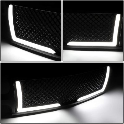 Chevy Silverado 3500 2001-2002 LED Grille Lights Black Mesh