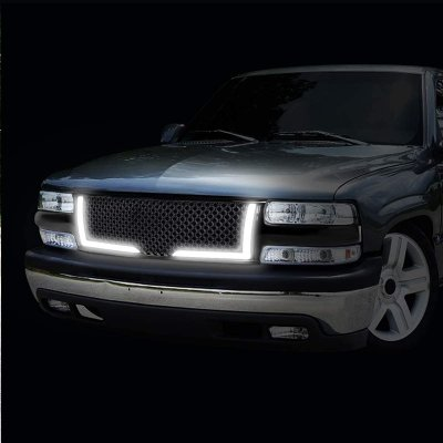 Chevy Tahoe 2000-2006 LED Grille Lights Black Mesh