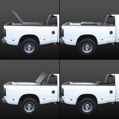 GMC Sierra 1500 2007-2013 Short Bed Tonneau Cover Hard Fold