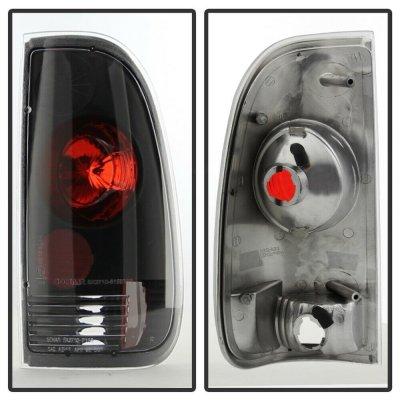 Ford F150 1997-2003 Black Altezza Tail Lights