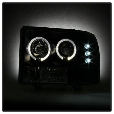 Ford F250 Super Duty 1999-2004 Black Smoked Projector Headlights