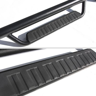 GMC Sierra 1500 Crew Cab 2007-2013 Off Road Steps Nerf Bars Black Oval