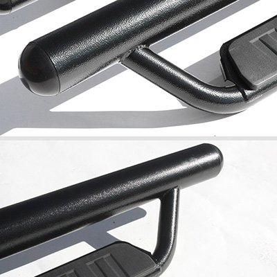 Chevy Colorado Crew Cab 2015-2019 Off Road Steps Nerf Bars Black Oval