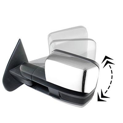 GMC Sierra 2007-2013 Chrome Power Folding Tow Mirrors Smoked LED Lights