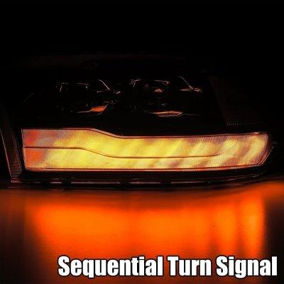 Dodge Ram 2009-2018 5th Gen LED DRL Blackout Projector Headlights AlphaRex