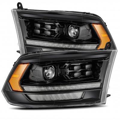 Dodge Ram 2009-2018 HD LED DRL Blackout Projector Headlights AlphaRex