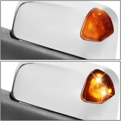 Dodge Ram 2500 1998-2002 Chrome Power Heated Towing Mirrors Amber Signal Lights