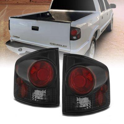 Isuzu Hombre 1996-2000 Black Smoked Custom Tail Lights