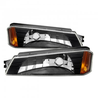 Chevy Avalanche 2002-2006 Body Cladding Black Bumper Lights