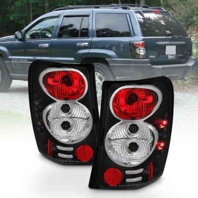 Jeep Grand Cherokee 1999-2004 Black Altezza Tail Lights