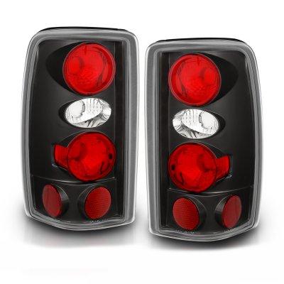 Chevy Suburban 2000-2006 Black Custom Tail Lights