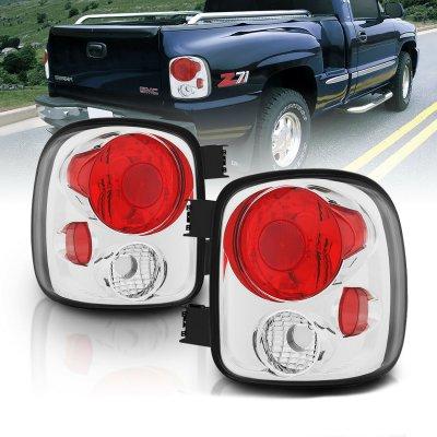 Chevy Silverado Stepside 1999-2004 Chrome Custom Tail Lights
