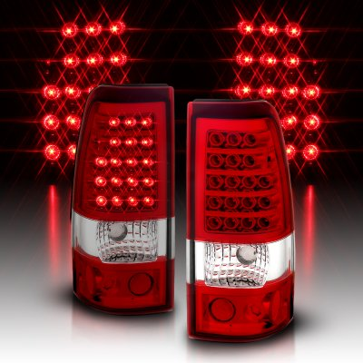 Chevy Silverado 2500HD 2003-2006 LED Tail Lights Red and Clear