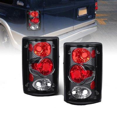 Ford Excursion 2000-2005 Black Custom Tail Lights