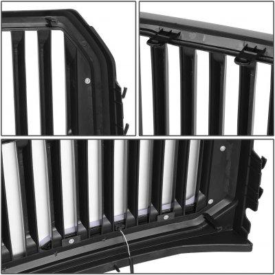 Ford F150 2015-2017 Black LED DRL Vertical Front Grille