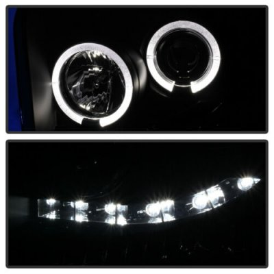 Ford F550 Super Duty 2005-2007 Black Smoked Projector Headlights