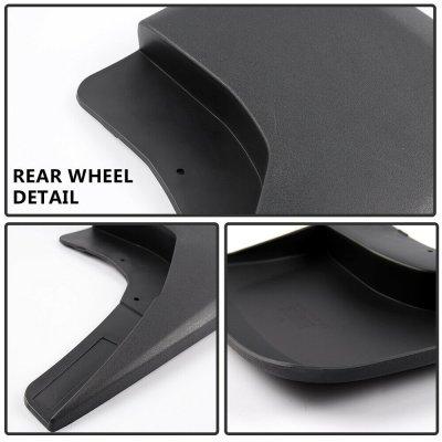 Chevy Silverado 2014-2018 Black Mud Flaps