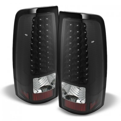Chevy Silverado 2500HD 2003-2006 LED Tail Lights Blacked Out