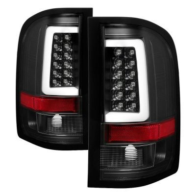 Chevy Silverado 2500HD 2007-2014 Black LED Tail Lights Tube