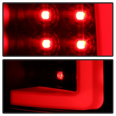 Chevy Silverado 2007-2013 Black LED Tail Lights Tube
