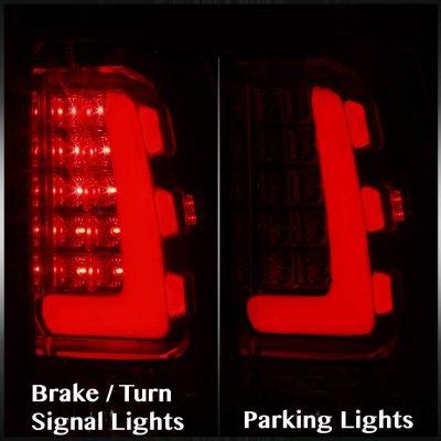 Chevy Silverado 1999-2002 Smoked Tube LED Tail Lights