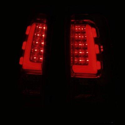 Chevy Silverado 2500 1999-2002 Smoked Tube LED Tail Lights