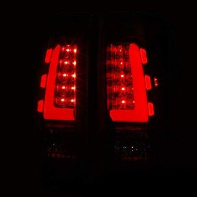 Chevy Silverado 1999-2002 Black Tube LED Tail Lights