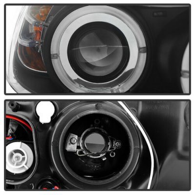 BMW 3 Series E90 Sedan 2006-2008 Black Dual Halo Projector Headlights