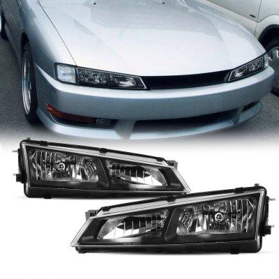 Nissan 240SX 1997-1998 Black Euro Headlights