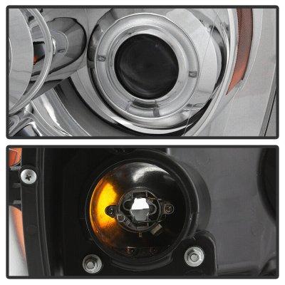 Dodge Ram 2500 2006-2009 Clear Dual Halo Projector Headlights LED