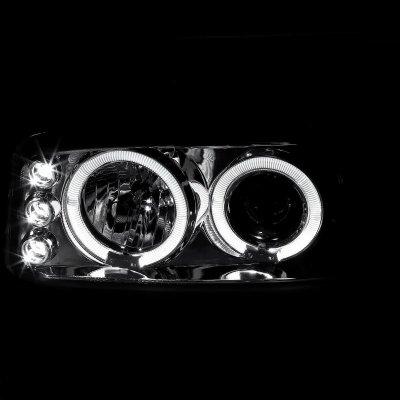 GMC Yukon 2000-2006 Chrome Halo Projector Headlights with LED