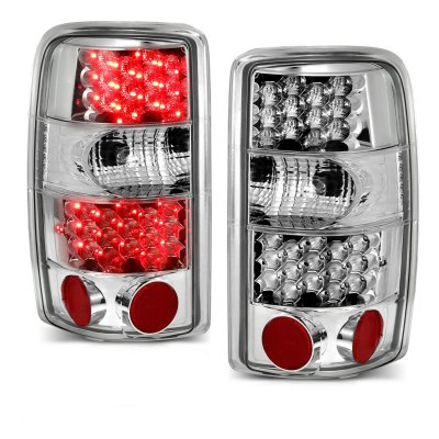 Chevy Suburban 2000-2006 Clear LED Tail Lights