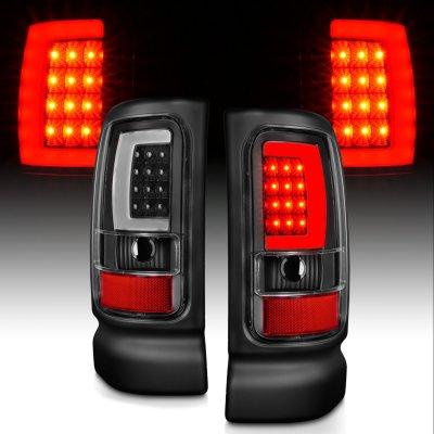 Dodge Ram 2500 1994-2001 Black LED Tail Lights tube