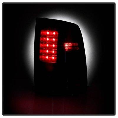 Dodge Ram 2013-2018 Midnight Black LED Tail Lights P-Series