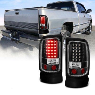 Dodge Ram 1994-2001 LED Tail Lights Black