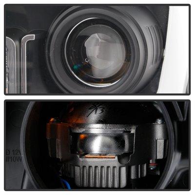 Toyota Tundra 2014-2017 Black DRL LED Projector Headlights