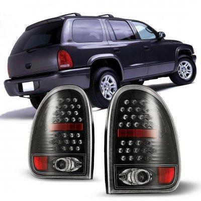Dodge Durango 1998-2003 Black LED Tail Lights