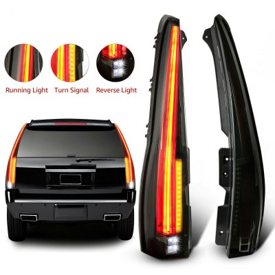 GMC Yukon 2007-2014 Smoked Full LED Tail Lights Conversion