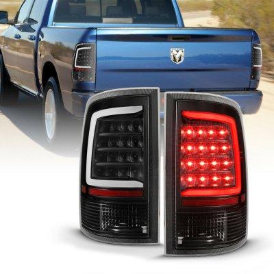 Dodge Ram 2500 2010-2018 Black Smoked LED Tail Lights Tube
