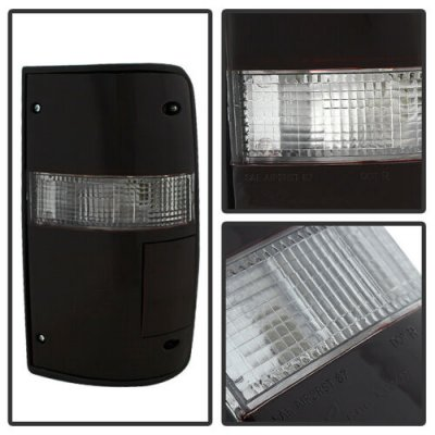 Toyota Pickup 1989-1995 Red and Smoked Euro Tail Lights