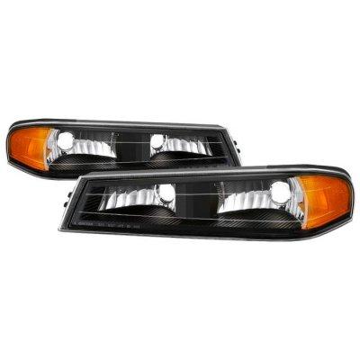 Chevy Colorado 2004-2012 Black Front Bumper Lights