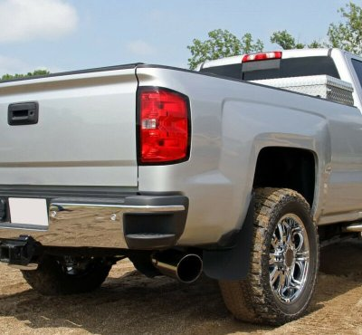 GMC Sierra 2014-2018 Black Mud Flaps