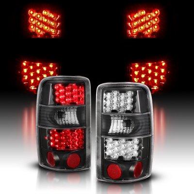 GMC Yukon 2000-2006 Black LED Tail Lights