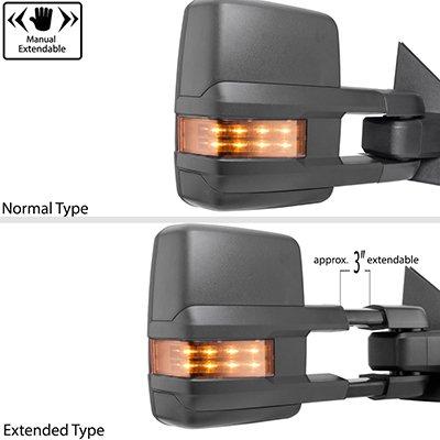 Dodge Ram 2500 2003-2009 Tow Mirrors LED Lights Power Heated
