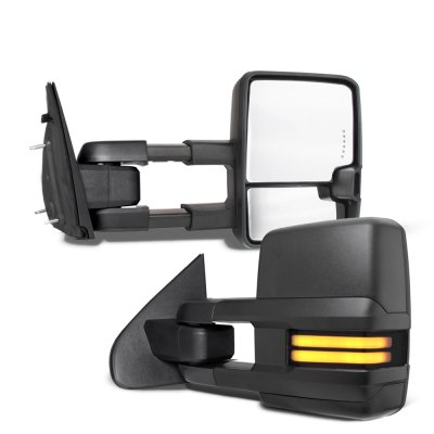 Dodge Ram 1500 2002-2008 Tow Mirrors Smoked LED DRL Power Heated