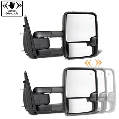 Dodge Ram 1500 2002-2008 Chrome Tow Mirrors Smoked Switchback LED DRL Sequential Signal