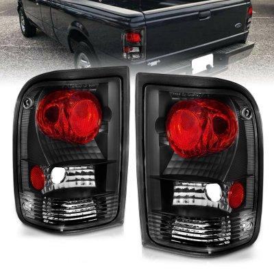Ford Ranger 1993-1997 Black Custom Tail Lights